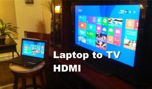 menghubungkan laptop dan tv