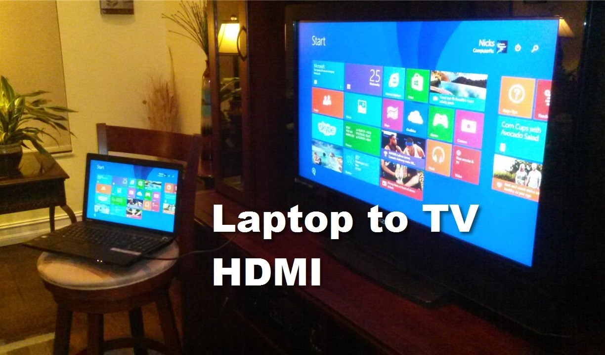 how to connect lenovo laptop to tv without hdmi